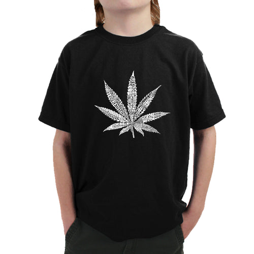 Boy's T-shirt - 50 DIFFERENT STREET TERMS FOR MARIJUANA