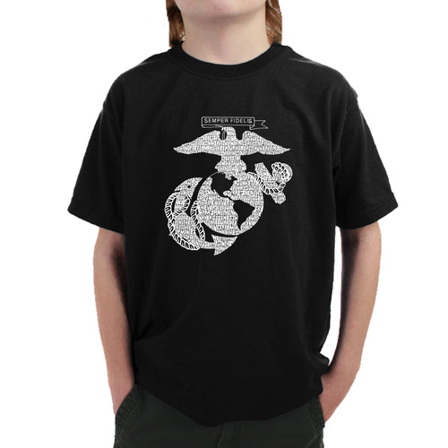 Boy's T-shirt - LYRICS TO THE MARINES HYMN