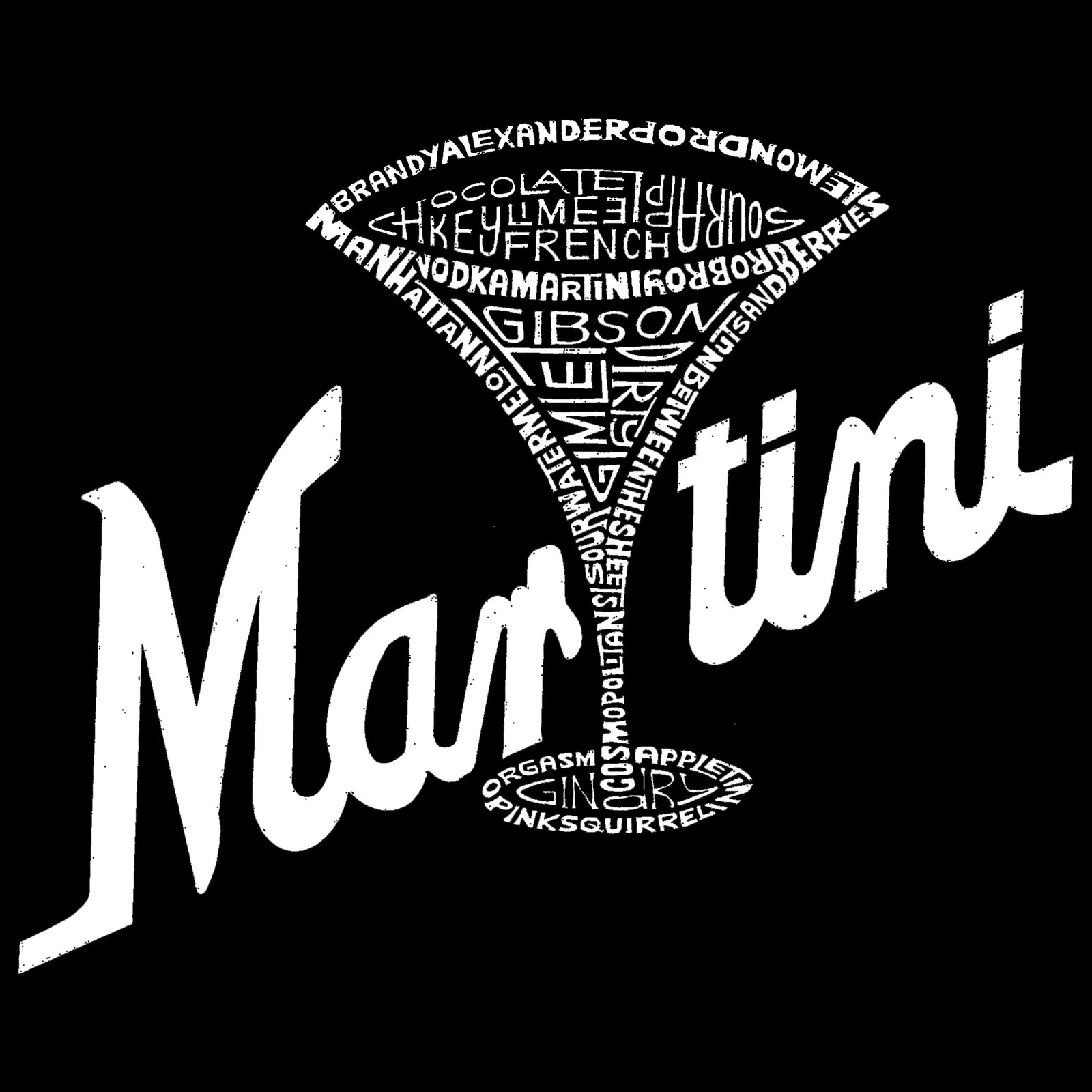 Women's Premium Word Art Flowy Tank Top - Martini