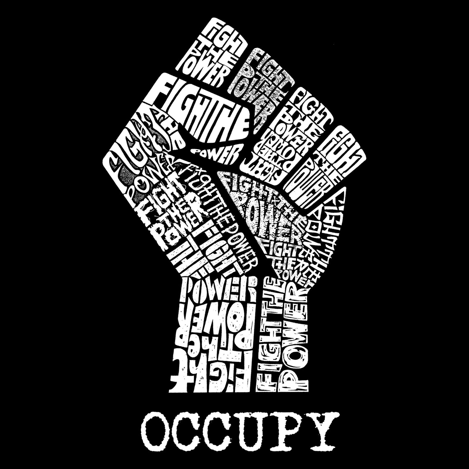 Throw Pillow Cover - OCCUPY WALL STREET - FIGHT THE POWER