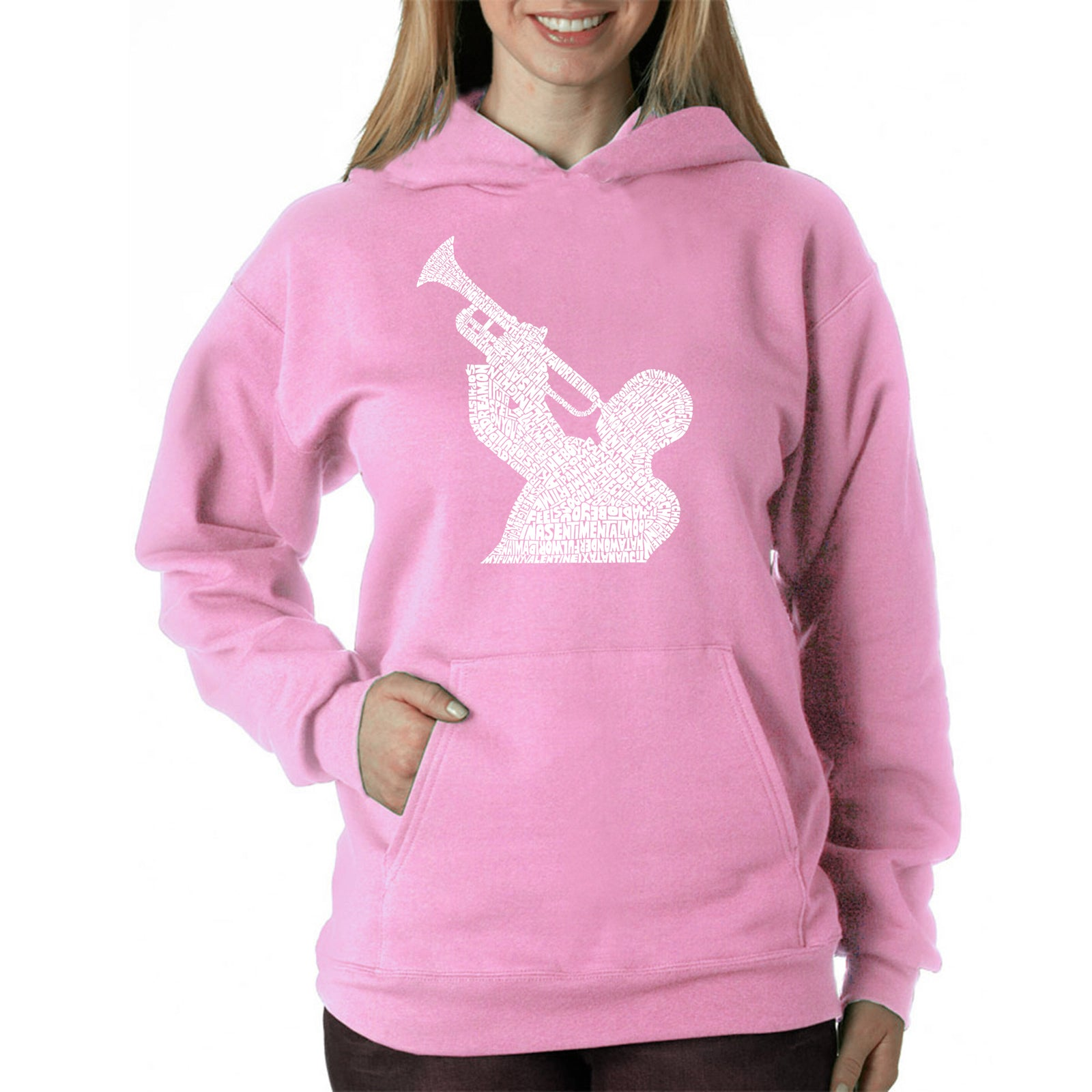 Women's Hooded Sweatshirt -ALL TIME JAZZ SONGS