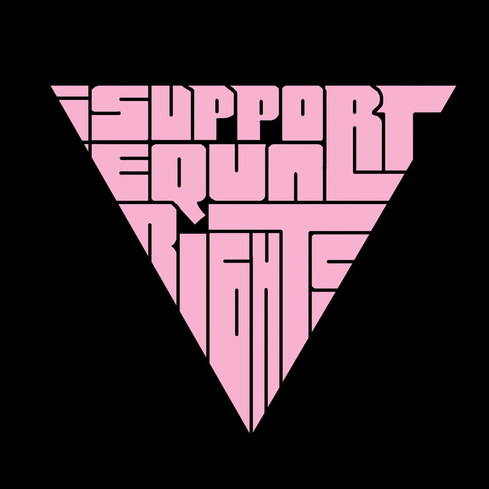 Large Tote Bag - I SUPPORT EQUAL RIGHTS