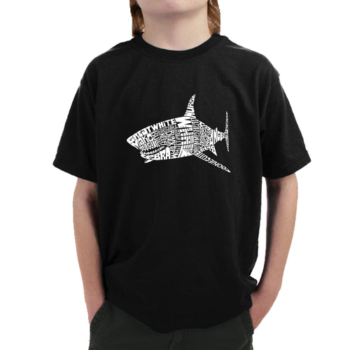 Boy's T-shirt - SPECIES OF SHARK