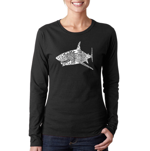 Women's Long Sleeve T-Shirt - SPECIES OF SHARK