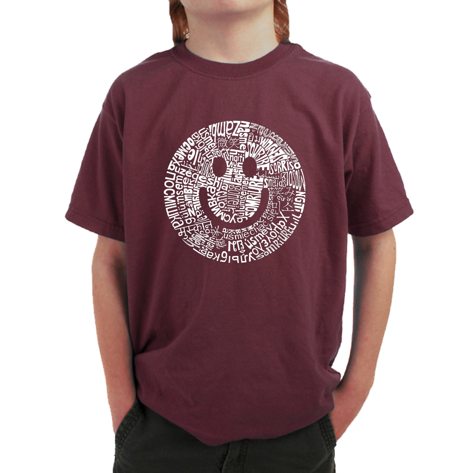Boy's T-shirt - SMILE IN DIFFERENT LANGUAGES