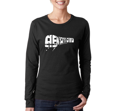Women's Long Sleeve T-Shirt - Cat Face