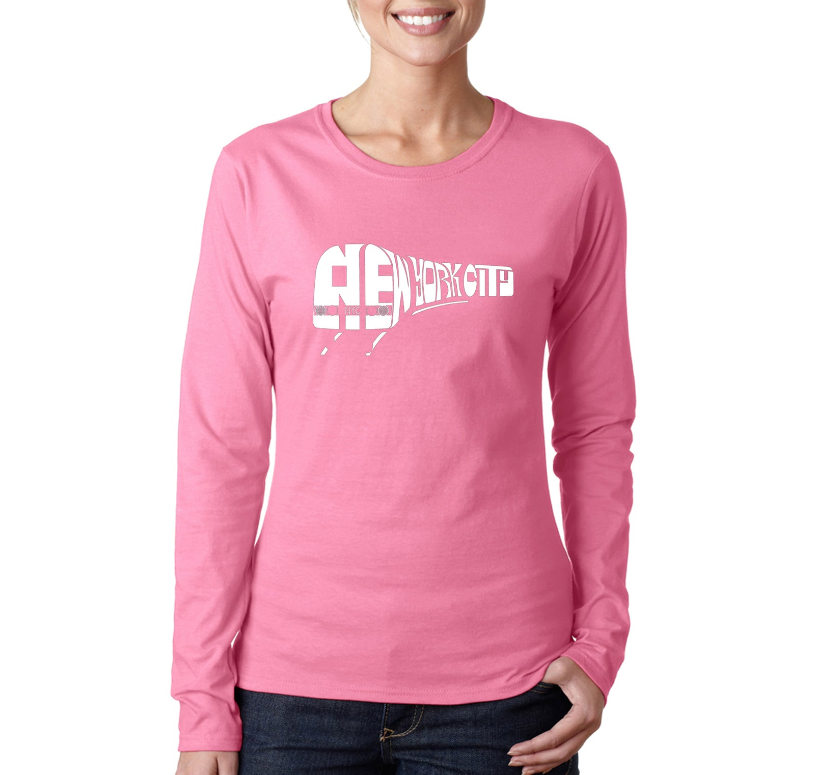 Women's Long Sleeve T-Shirt - NY SUBWAY
