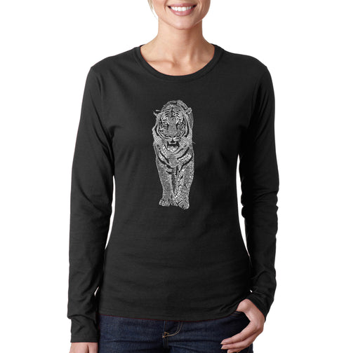 Women's Long Sleeve T-Shirt - TIGER