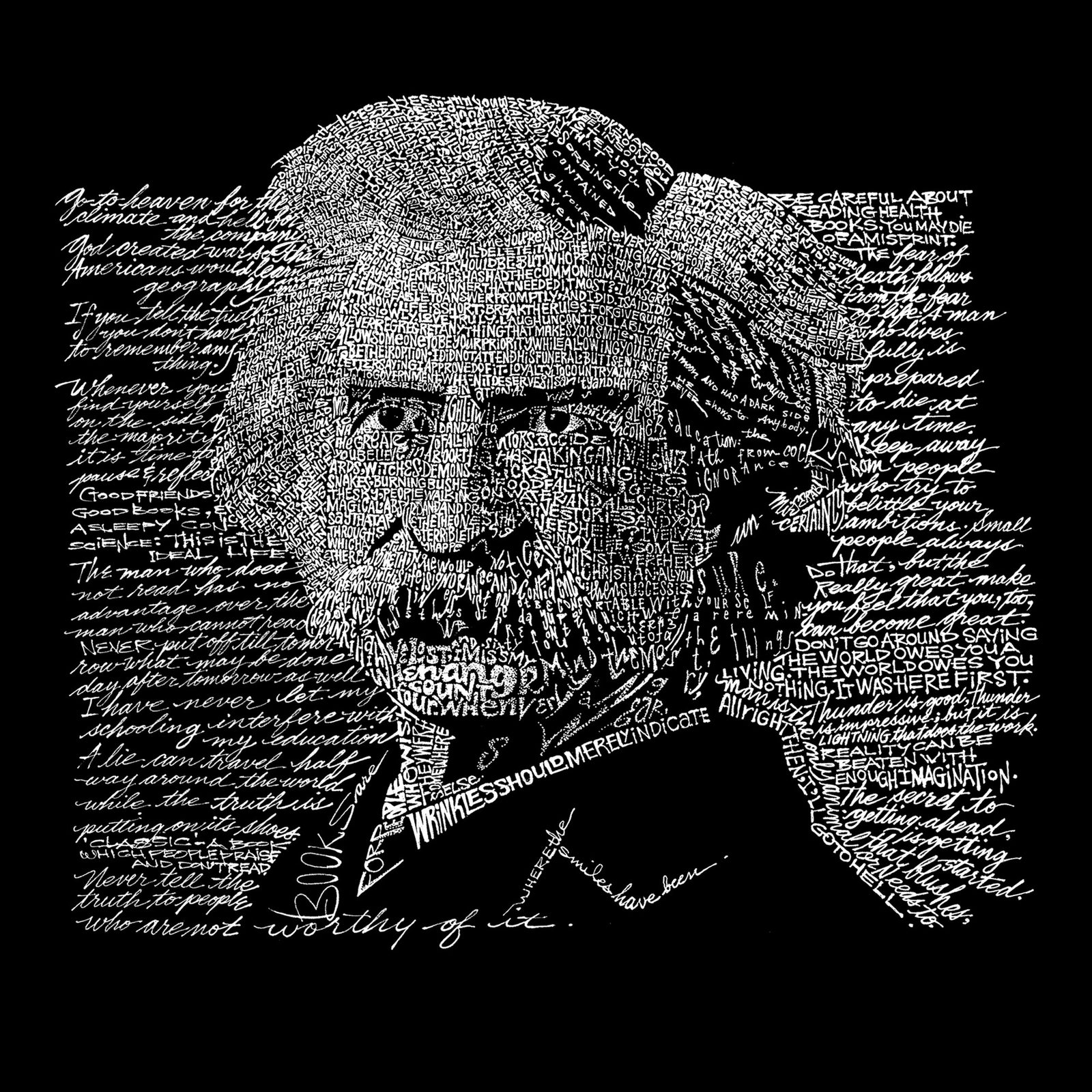 Throw Pillow Cover - Mark Twain