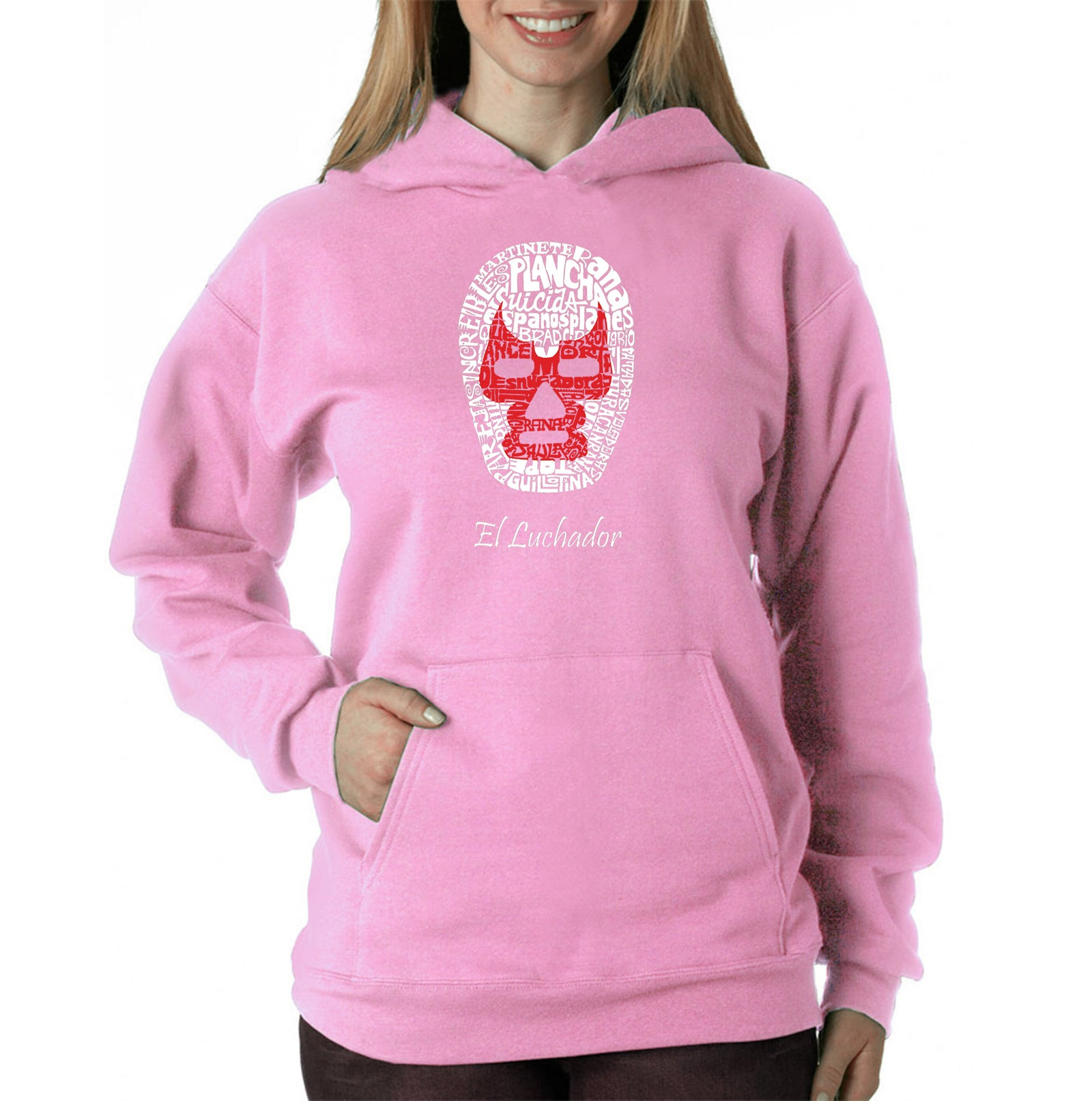 Women's Hooded Sweatshirt -MEXICAN WRESTLING MASK