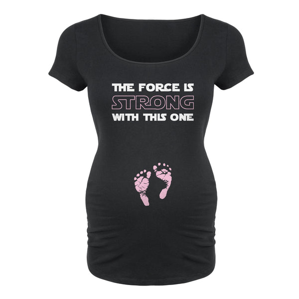 The Force Is Strong With This One - Girl Footprints