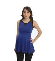 Royal Blue Sleeveless Maternity Top