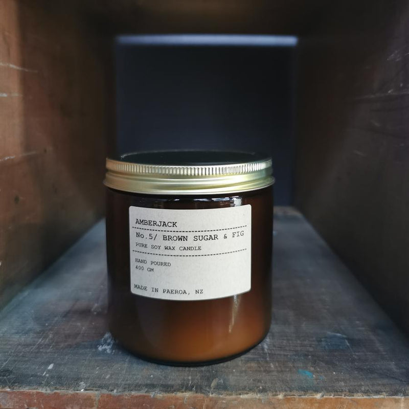 Amberjack Brown Sugar & Fig - Large Soy Candle