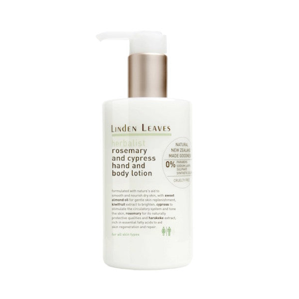 Linden Leaves Herbalist Rosemary and Cypress Hand and Body Lotion 300ml - Urban Herbalist
