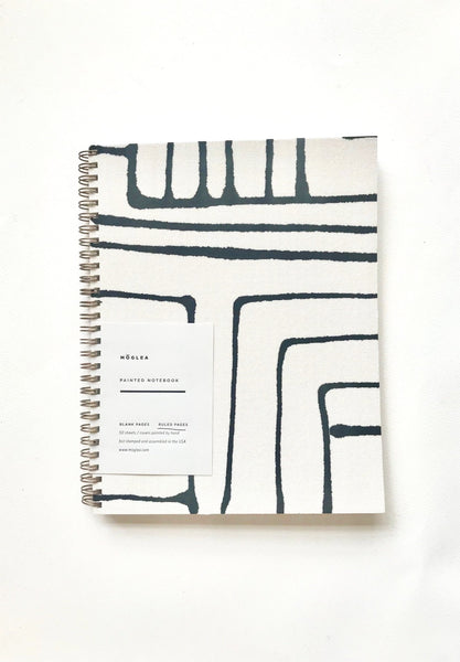 painted stripe notebook