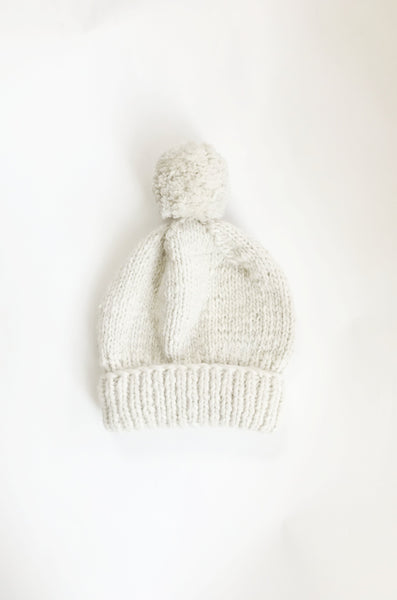hand-knit merino hat | cream