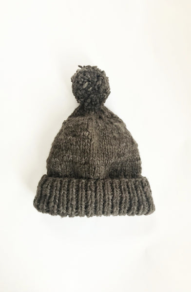 hand-knit merino hat | coffee bean