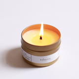 tobacco travel candle