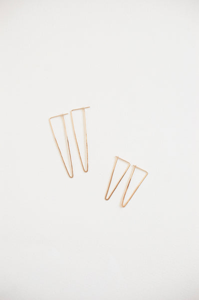 peak earrings | gold