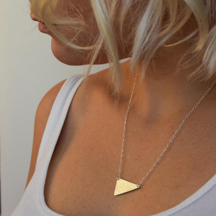 Geometric necklace in sterling silver muka studio