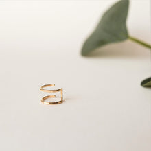 Gold Double Helix Cuff