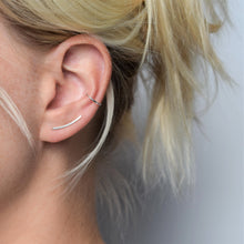 Smooth Silver Ear Climber