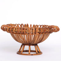Rattan Pedestal Fruit Bowl