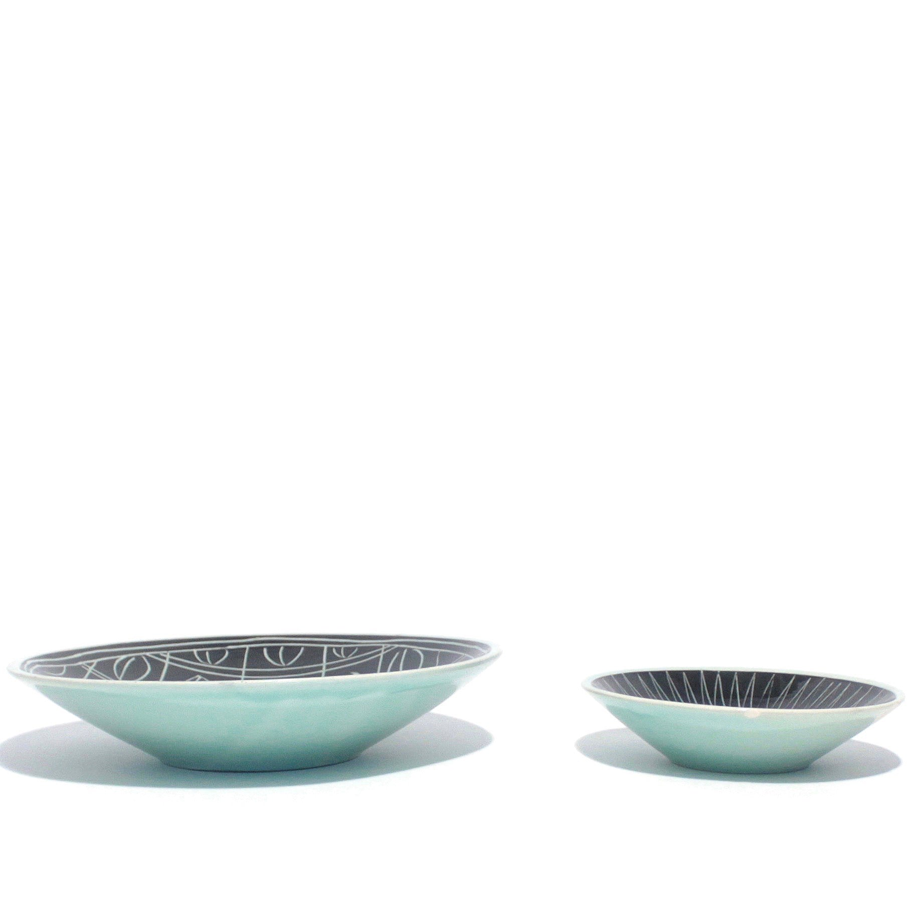 Set of 2 Decorative pocket dishes