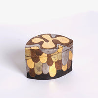Ceramic Silver Gold Jewelry Box