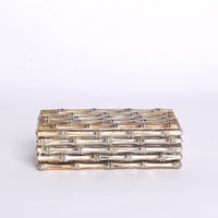Bamboo looking Brass Jewely Box