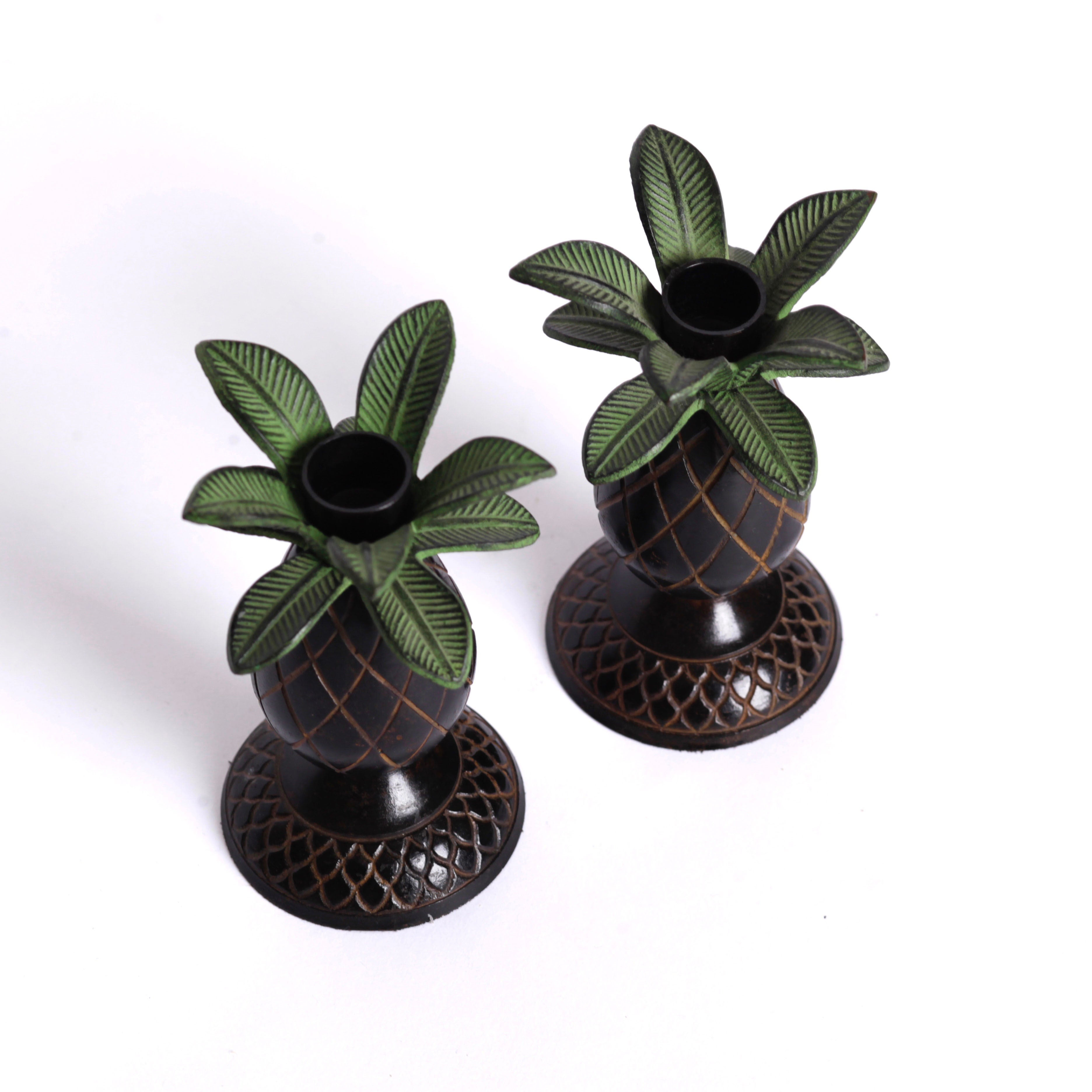 Pineapple Candle Holders (2)