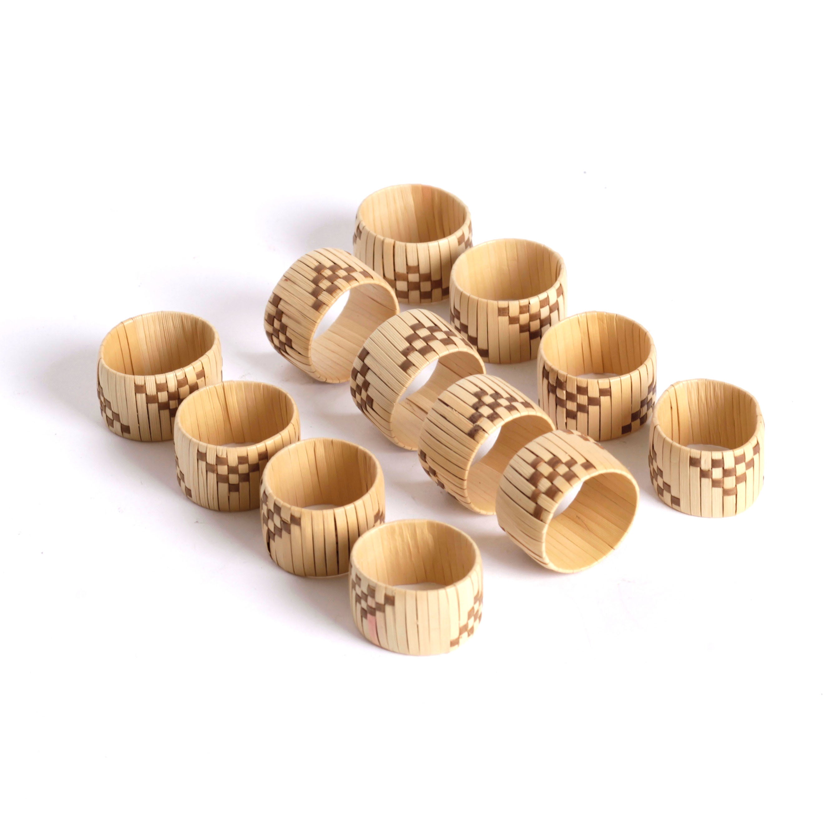 Wicker Napkin Rings (12)