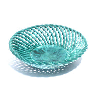 French Turquoise Braided  Bowl