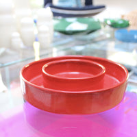 Double Circle Red Bowl