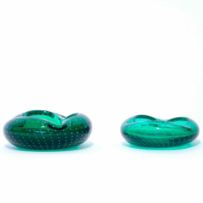 Bubble Green Murano art Glass