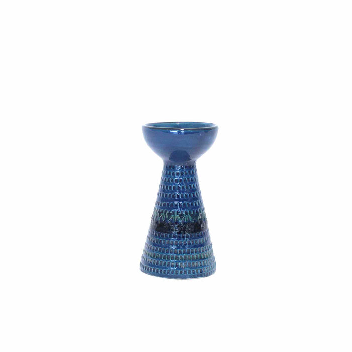 rare blue Bitossi Pottery candle holder