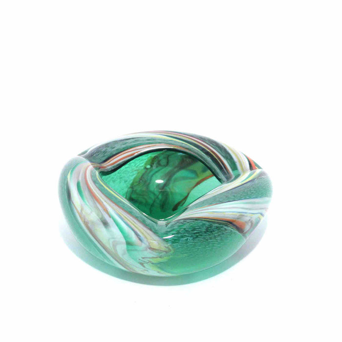 Green Striped Murano Bowl