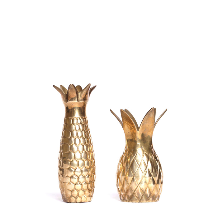 2 Pineapple vases (pair)