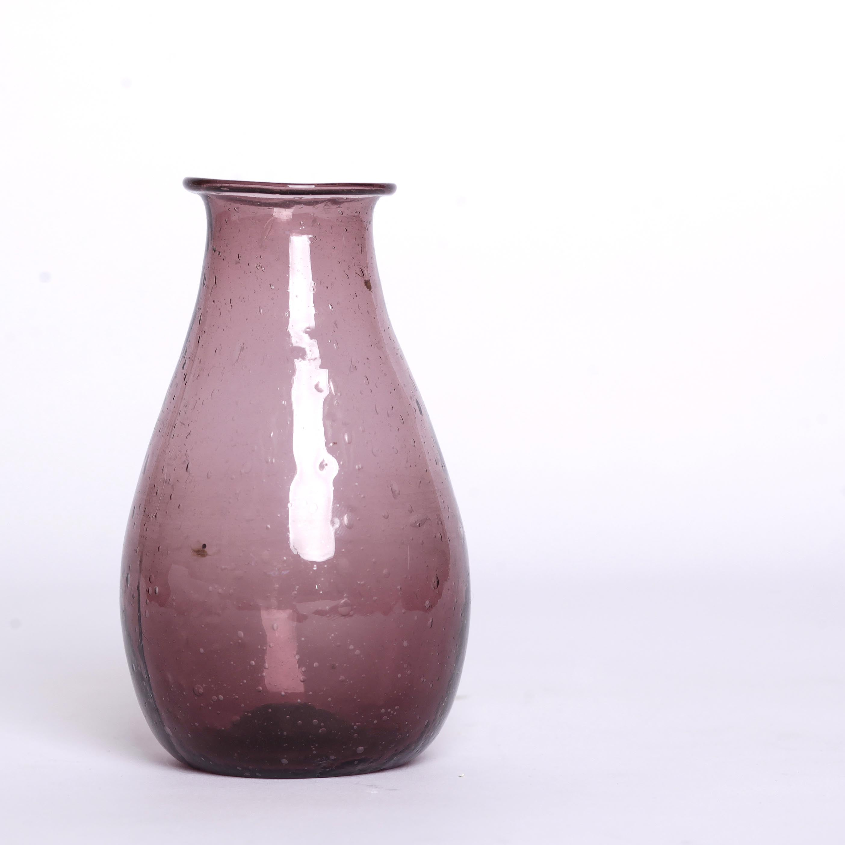 Purple Bubble Glass Vase