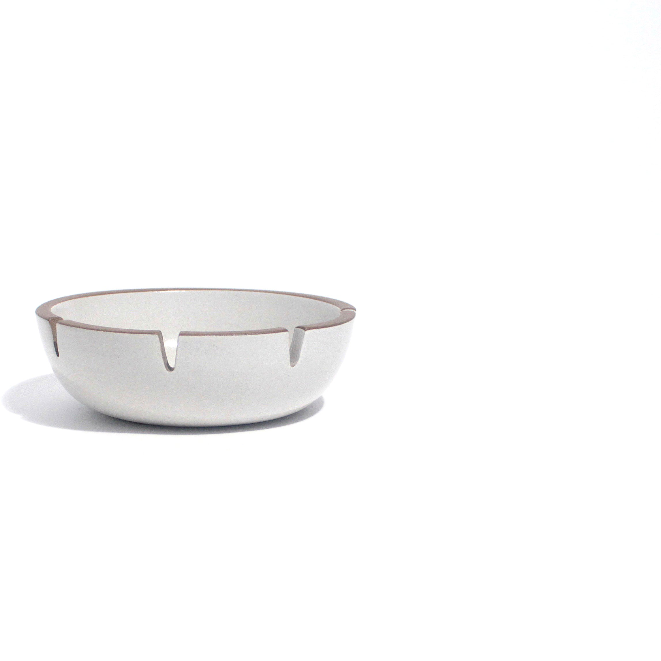 White Heath Ceramic Ashtray