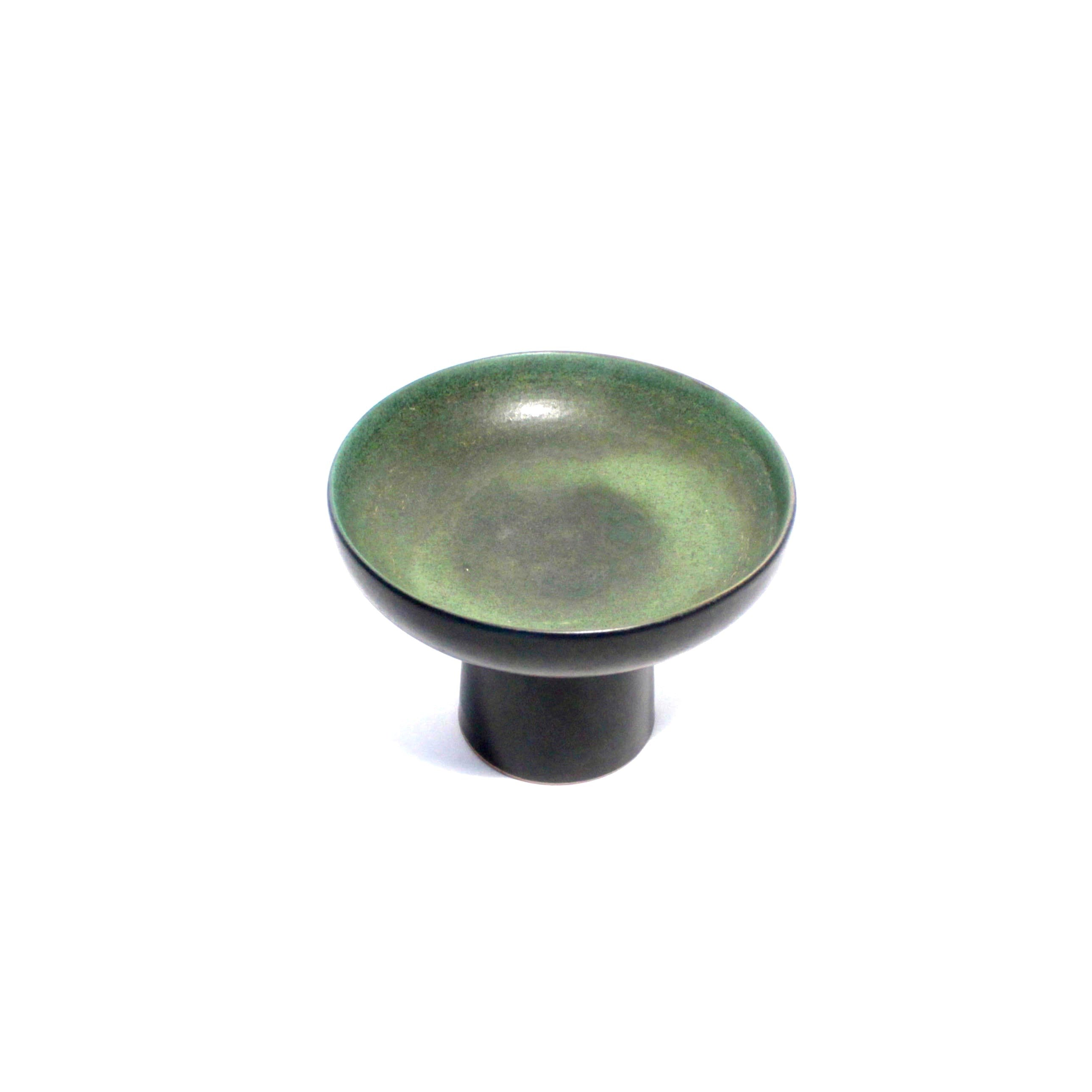 Pedestal Ceramic bi color Bowl