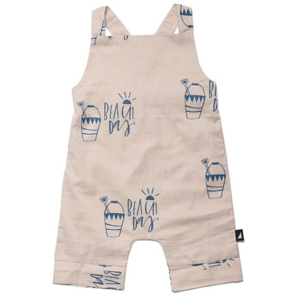 Beach Day Woven Overalls