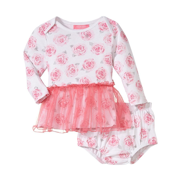 Floral Skirted Dress with Diaper Cover