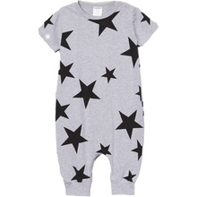 Gray and Black Star Romper