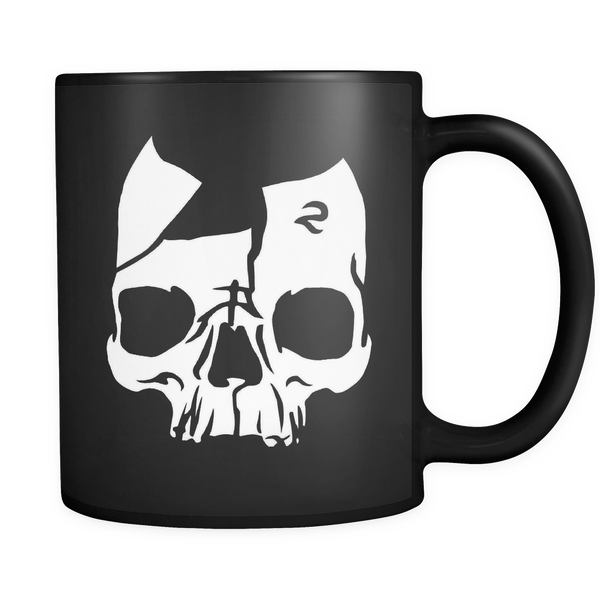Broken Skull 11 oz Black Mug