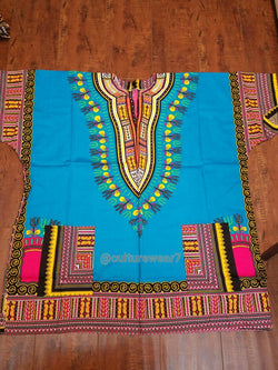 Dashiki Soft Blue, Pink