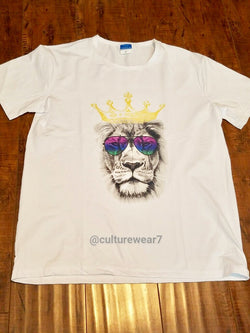 Lion w Glasses Men's T-Shirt