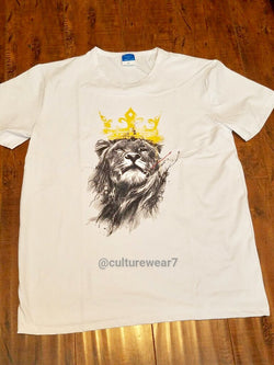 Lion w Crown Men's T-Shirt