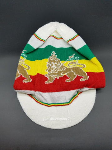 Rasta Hat Lion of Judah White #58
