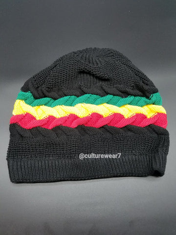 Rasta Hat Black/ Red, Gold, Green #52